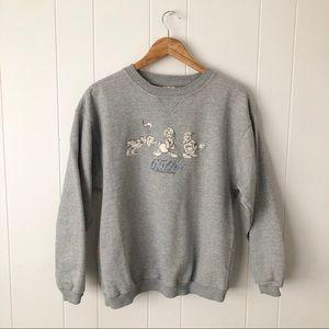 Vintage Disney Donald Duck Gray Crew Neck Sweater